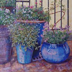 """Jill Beecher Matthew, """"Macetas"""", oil, 36x36, $2,500"""