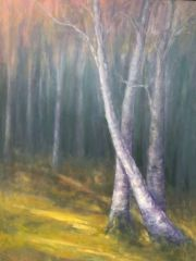 "Molly McDonald, ""Side Yard"", oil, 48x36, $4,250"