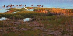 "Sean Murtha, ""April Shore"", oil, 18x36, $2,000"