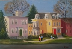 "Jeanne OBrien, ""Guilford Village"", oil, 16x20, $625"