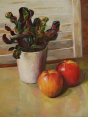 "Patrice Petricone, ""Apple Reflections"", oil, 12x18, $1,000"
