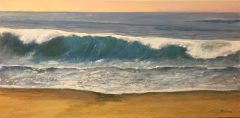 "Nick Salerno, ""Long Swells"", acrylic, 12x24, $600"
