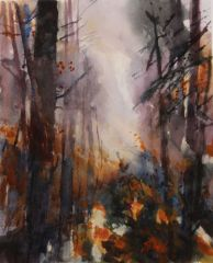 "Susan Shaw, ""Woodland Glow"", watercolor, 16x12, $800"