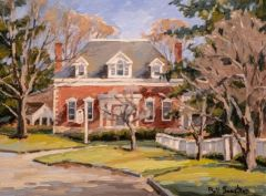 "Bill Sonstrom, ""Library Old Lyme"", oil, 12x16, $775"