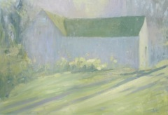 "Ariane Luckey, ""Spring Greens"", oil, 25x36, $2,000"
