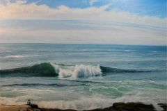 "John Canale, ""Morning Surf"", oil, 16x20, $1,100"