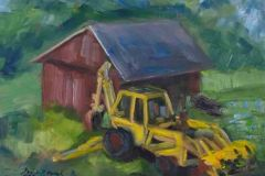 """Dodie D'Oench, """"Let's Go Digging"""", oil, 12x16, $350"""