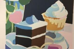 "Liz Egan, ""The Dessert Table"", serigraph, 14x9, $475"