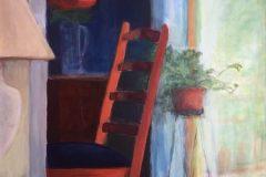 """Liz Egan, """"The Dining Room Chair"""", acrylic, 30x24, $475"""