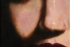 "Ted Genard, ""Marissa"", oil, 12x24, $500"
