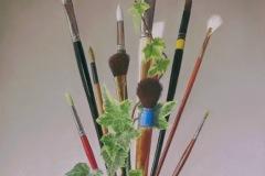 "Barbara Groff, ""Brush Bouquet"", pastel, 17x12.5, $3,200"