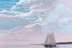 "Pat Kelbaugh, ""Sailing"", acrylic, 20x16, $650"