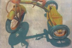 "Earl Grenville Killeen, ""Trike Remains"", watercolor, 21x25, $3,600"