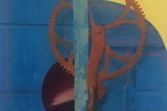 "Earl Grenville Killeen, ""Wheat Thresher"", watercolor, 20x25, $3,600"