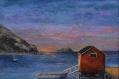 "Lisa Linehan, ""Newfoundland"", oil, 21x25, $1,600"