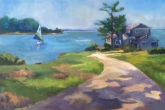 "Katherine Mann, ""Land's End"", oil, 12x16, $450"