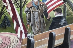 "Michael Mendel, ""Lasting Friendship"", watercolor, 18x24, $1,200"