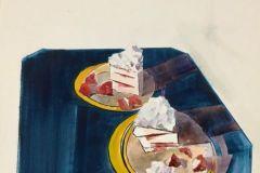 """Lisa Miceli, """"Angel Food"""", watercolor, 15x14, $700"""