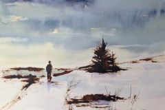 "Lisa Miceli, ""Winter"", ink and watercolor, 11x14, $550"