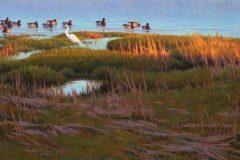 """Sean Murtha, """"April Shore"""", oil, 18x36, $2,000"""