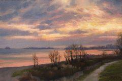 "Sean Murtha, ""November Sunset"", oil, 8x12, $800"