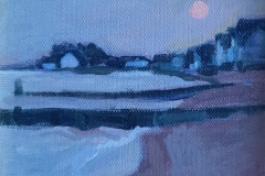 """Sara Drought Nebel, """"Sunset Haze"""", acrylic, 6x8, $250"""