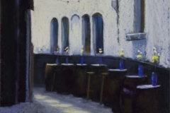 """Jane Penfield, """"Alley Cafe"""", pastel, 16x12, $750"""