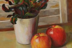 """Patrice Petricone, """"Apple Reflections"""", oil, 12x18, $1,000"""