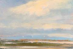 """Karen Ponelli, """"Weathered Dock"""", oil, 13.5x10.5, $695"""