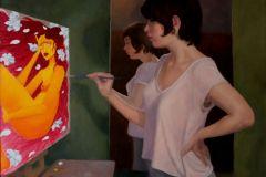 """T. Whitney Prentice & Miranda Warzel, """"Painted Lady"""", oil, 20x24, $1,200"""