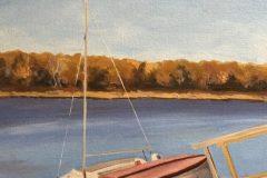 """Neil Ruenzel, """"End of Season"""", oil, 16x20, $450"""