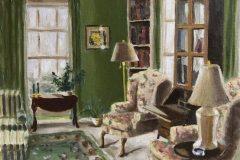 """Neil Ruenzel, """"Green Parlor"""", oil, 16x20, $450"""