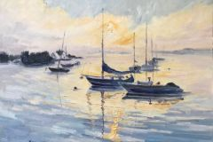 """Blanche Serban, """"Morning in Greenwich, Connecticut"""", oil, 16x20, $800"""