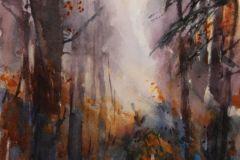 "Susan Shaw, ""Woodland Glow"", watercolor, 16x12, $800"
