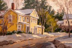 "Bill Sonstrom, ""Chester Winter"", oil, 11x14, $660"