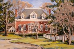 """Bill Sonstrom, """"Library Old Lyme"""", oil, 12x16, $775"""