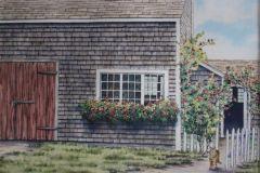 "Jennifer Tassmer, ""Welcome Home"", watercolor, 16x20, $625"