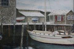 "Jennifer Tassmer, ""Winter Harbor"", watercolor, 16x20, $595"