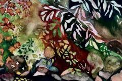 "Claudia Van Nes, ""Autumn Creek"", watercolor, 9x12, $350"