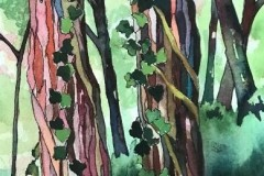 """Claudia Van Nes, """"Trunk Show IV"""", watercolor, 6x9, $300"""