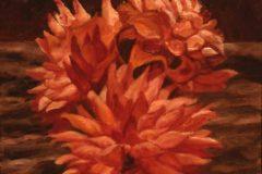 "Wesley M Vietzke, ""Denise Dahlias"", oil, 14x18, $275"