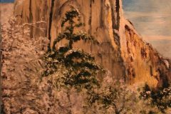 "Wesley M Vietzke, ""El Capitan after the snow"", oil, 18x24, $500"