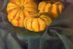 "Rosemary Webber, ""Cuddle Up"", oil, 18x15, $410"