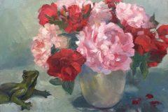 """Rosemary Webber, """"Garden Scents"""", oil, 16x20, $430"""