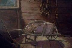"Lynn Wrona, ""The Tack Room"", oil, 16x20, $925"