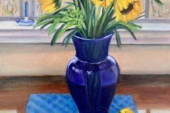 "Lorraine Yurkewicz, ""Yellow and Blue"", oil, 14x18, $850"