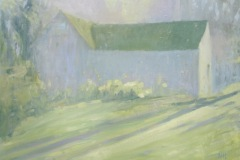 "Ariane Luckey, ""Spring Greens"", oil, 25x36, $2,000"