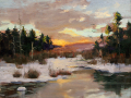 Adkins Thomas Winter March at Sunset