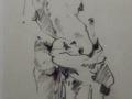 Ralph Acosta, <i>Nude 1, </i>charcoal pencil, $395