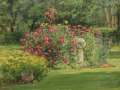 Sharon Jordan Bahosh, <i>Gazing Globe in the Garden, </i>oil, $2,000